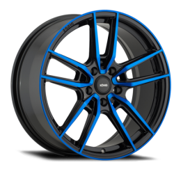 König Wheels Myth gloss black - blue tinted clearcoat