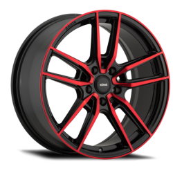 König Wheels Myth gloss black - red tinted clearcoat