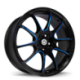 König Wheels Illusion Black/Ball Cut Blue
