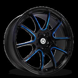 König Wheels Illusion Black/Ball Cut Blue