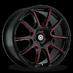 König Wheels Illusion Black/Ball Cut Red