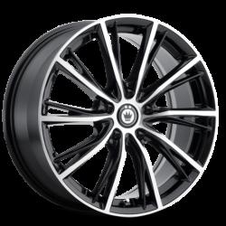 König Wheels Impression gloss black - machined face