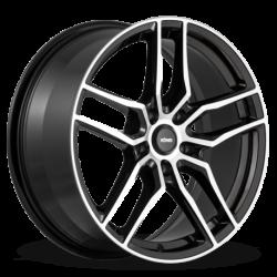 König Wheels Intention gloss black - machined face