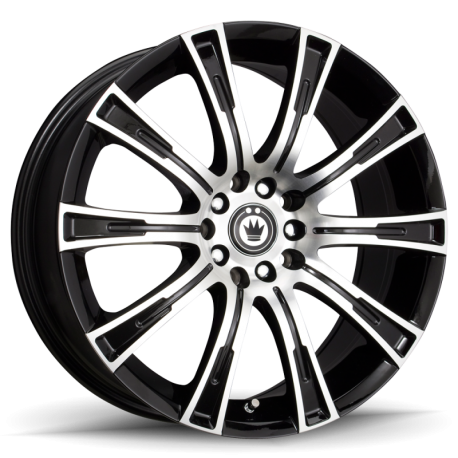 König Wheels Crown gloss black - machined face