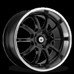 König Wheels Lightning gloss black - machined lip