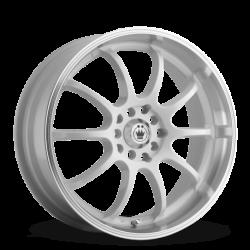 König Wheels Lightning gloss white - machined lip