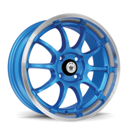 König Wheels Lightnin blue - machined lip
