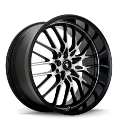 König Wheels Lace gloss black - machined face