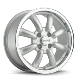 König Wheels Rewind silver - machined lip
