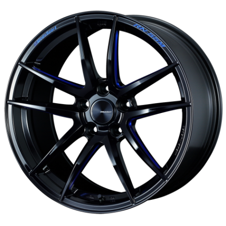 WEDS Sport RN-55M black machined blue
