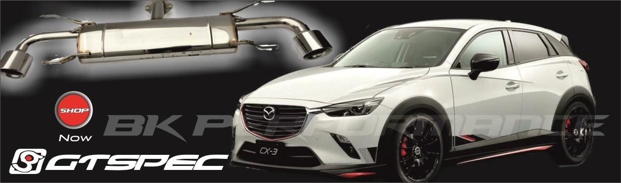 Mazda CX-3 GTSPEC Auspuffanlage